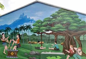 海南墙绘陵水彩绘项目