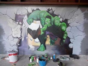 海南墙绘亚马逊餐厅彩绘项目